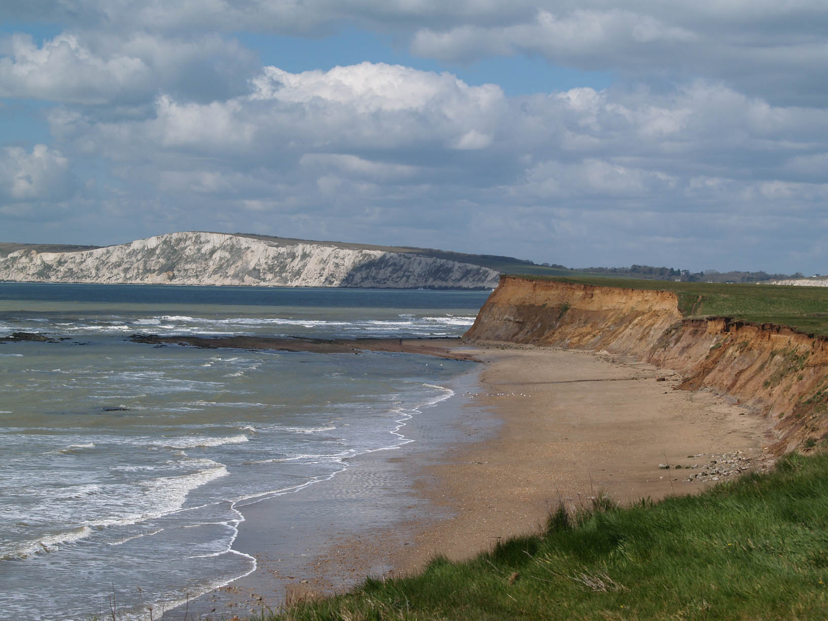 Brighstone Bay Wealden and the Chalk downs